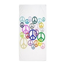 Peace Sign Collage FF Beach Towel