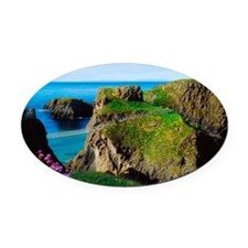 Carrick-a-Rede Rope Bridge, Carric Oval Car Magnet