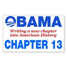 Obama Chapter 13 Decal