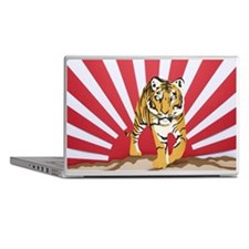 Tiger with sunrise in background Laptop Skins