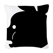 Pyatochok sexy black Woven Throw Pillow