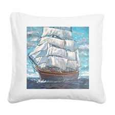 The American Clipper Square Canvas Pillow