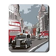 Taxi on London street Mousepad