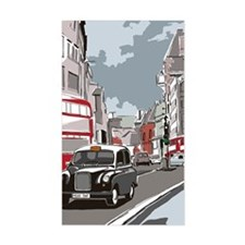 Taxi on London street Decal