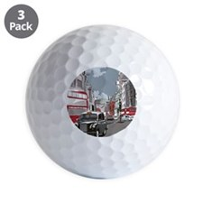 Taxi on London street Golf Ball
