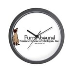 Purrs Abound Wall Clock