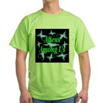 Aliens Among Us Green T-Shirt