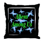 Aliens Among Us Throw Pillow
