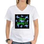 Aliens Among Us Women's V-Neck T-Shirt