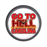 Go To Hell Carolina Wall Clock