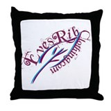 Eve's Rib Logo Tee Throw Pillow