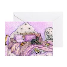 Sighthounds slumber party Greeting Card