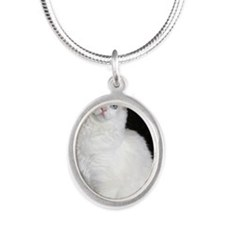 laci Silver Oval Necklace