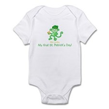 1st St. Pat's Monkey Infant Bodysuit