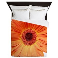 Orange Gerbera Daisy Queen Duvet