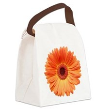 Orange Gerbera Daisy Canvas Lunch Bag
