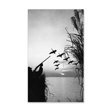 Man duck-hunting Wall Decal
