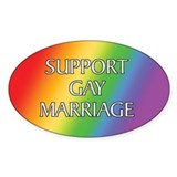 Support Gay Marriage Oval Decal