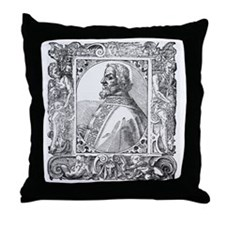 Charlemagne, first Holy Roman Emperor Throw Pillow