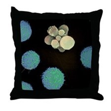 Cell death, SEM Throw Pillow