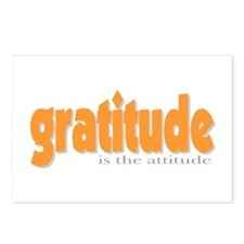 Gratitude is the Attitude Postcards (Package of 8)