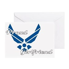 Proud Air Force Girlfriend Greeting Card