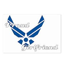 Proud Air Force Girlfrien Postcards (Package of 8)
