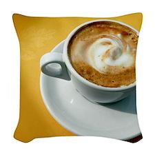Cappuccino Woven Throw Pillow
