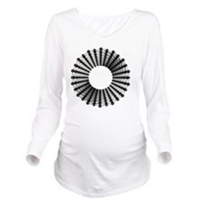 Carbon nanotube Long Sleeve Maternity T-Shirt