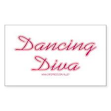 Dancing Diva (pink) Rectangle Decal