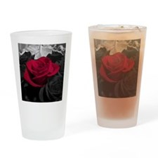 Red rose pop color Drinking Glass