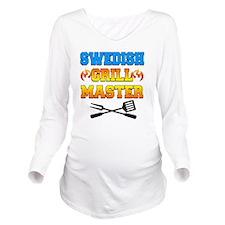 Swedish Grill Master Long Sleeve Maternity T-Shirt