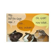 Piggy Greeting Card Rectangle Magnet