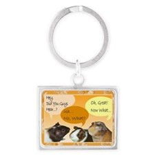 Piggy Greeting Card Landscape Keychain