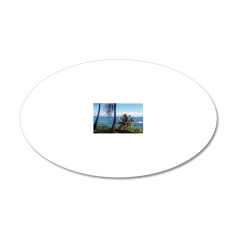 San Juan Magnet 20x12 Oval Wall Decal