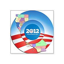 """California for Obama Square Sticker 3"""" x 3"""""""