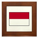 Indonesian Flag - Indonesia Framed Tile