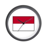 Indonesian Flag - Indonesia Wall Clock