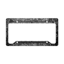 MX initials. Vintage, Floral License Plate Holder