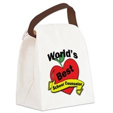 Worlds Best School Counselor Canvas Lunch Bag