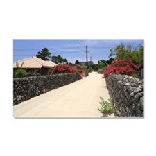 Stone Wall Alley, Taketomi, Oki Car Magnet 20 x 12