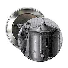 """Brewery vat, 19th century 2.25"""" Button"""