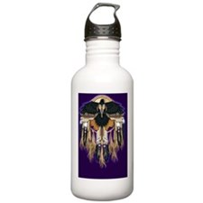 Native Crow Mandala Wa Water Bottle