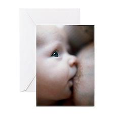 Breastfeeding baby boy Greeting Card