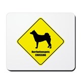 Norrbottenspets Crossing Mousepad