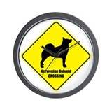 Buhund Crossing Wall Clock