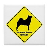 Buhund Crossing Tile Coaster