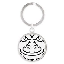 Fear the Swamp Gator Round Keychain