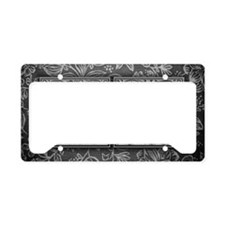 AO initials. Vintage, Floral License Plate Holder