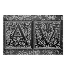 AV initials. Vintage, Flo Postcards (Package of 8)